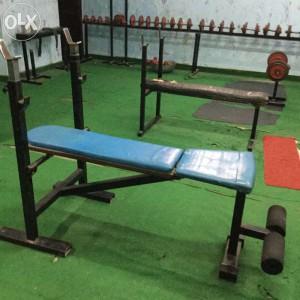 Ungefär så här såg vårt gym ut. Back to the 80's